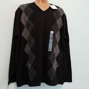 Concepts By CLAIBORNE Size XXL Sweater Shirt Black